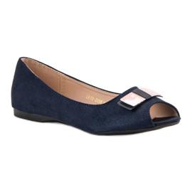 Open Toe Vinceza ballerinas blue 5