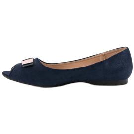 Open Toe Vinceza ballerinas blue 6