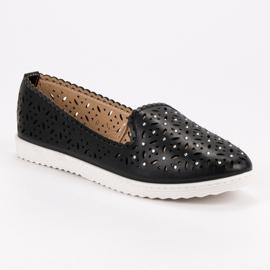 SHELOVET Openwork Slip On Sneakers black 7
