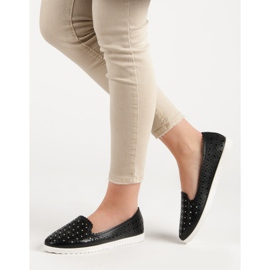 SHELOVET Openwork Slip On Sneakers black 3