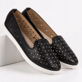 SHELOVET Openwork Slip On Sneakers black 4