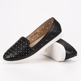 SHELOVET Openwork Slip On Sneakers black 5