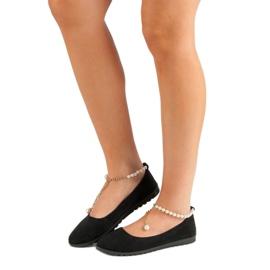 Vinceza Ballerinas With Pearls black 7