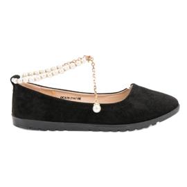 Vinceza Ballerinas With Pearls black 4