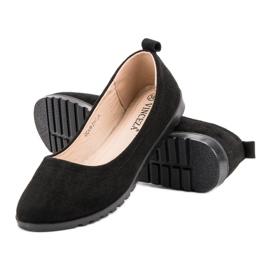 Vinceza Ballerinas With Pearls black 10