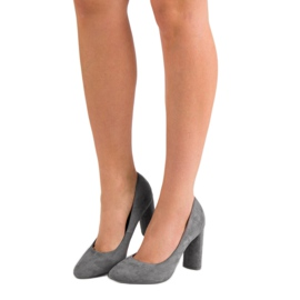 Small Swan Suede Pumps On A Bar grey 5