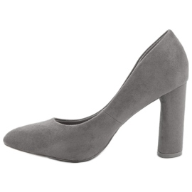 Small Swan Suede Pumps On A Bar grey 2