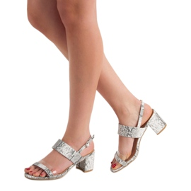 Ideal Shoes Fashionable Women's Sandals grey 1