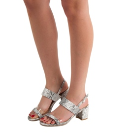Ideal Shoes Fashionable Women's Sandals grey 6