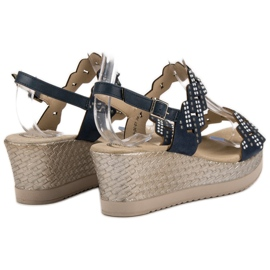 Aclys Light Sandals on Wedge blue 4