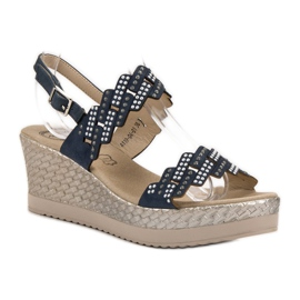 Aclys Light Sandals on Wedge blue 2
