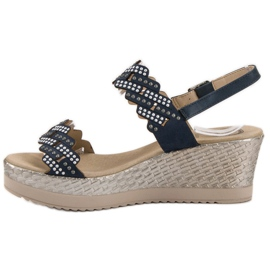 Aclys Light Sandals on Wedge blue 3