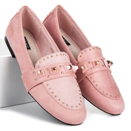 Vices Suede loafers pink 1