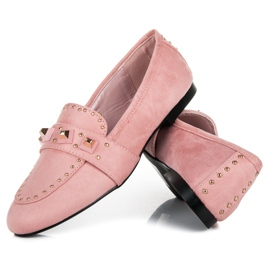Vices Suede loafers pink 3