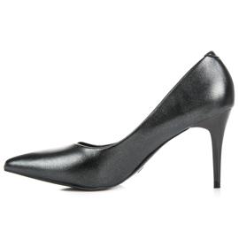 Vinceza Elegant Pearl Studs black 4