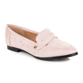Seastar Suede loafers shoes pink 4
