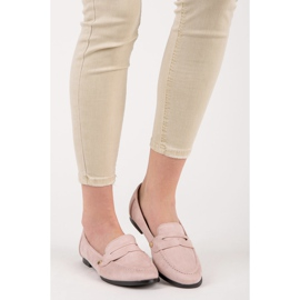 Seastar Suede loafers shoes pink 2