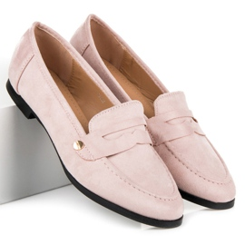 Seastar Suede loafers shoes pink 3