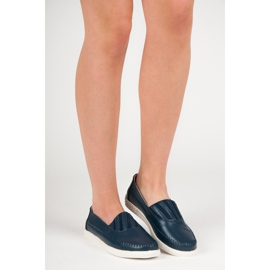 Slip-on Leather Loafers from VINCEZA blue 6
