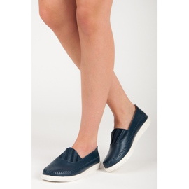 Slip-on Leather Loafers from VINCEZA blue 1