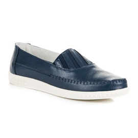 Slip-on Leather Loafers from VINCEZA blue 2