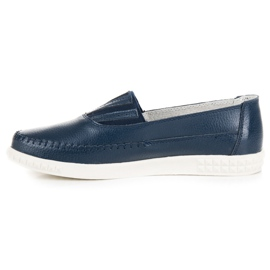 Slip-on Leather Loafers from VINCEZA blue 3