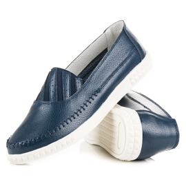 Slip-on Leather Loafers from VINCEZA blue 4