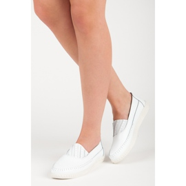 Slip-on Leather Loafers from VINCEZA white 1