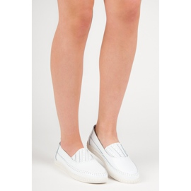Slip-on Leather Loafers from VINCEZA white 6