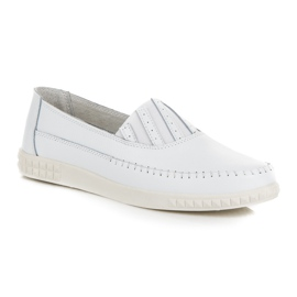 Slip-on Leather Loafers from VINCEZA white 2