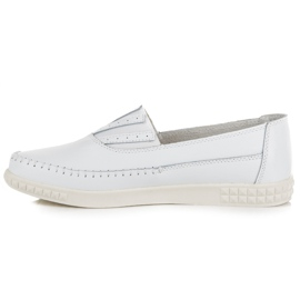 Slip-on Leather Loafers from VINCEZA white 3
