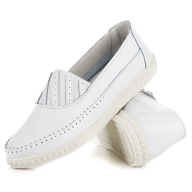 Slip-on Leather Loafers from VINCEZA white 4