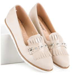 Seastar Suede Loafers With Fringes brown 4