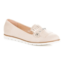 Seastar Suede Loafers With Fringes brown 1