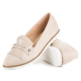 Seastar Suede Loafers With Fringes brown 3