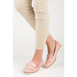 Seastar Suede Loafers With Fringes pink 6