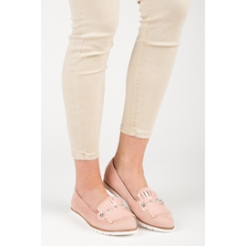 Seastar Suede Loafers With Fringes pink 5