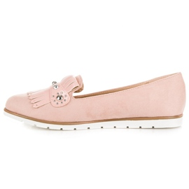 Seastar Suede Loafers With Fringes pink 4
