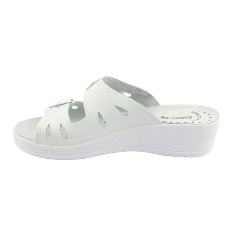 White Women's slippers Comfooty Mia wedge picture 2