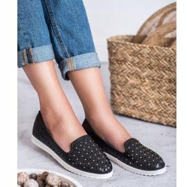 SHELOVET Openwork Slip On Sneakers black 1