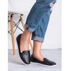 SHELOVET Openwork Slip On Sneakers black 9