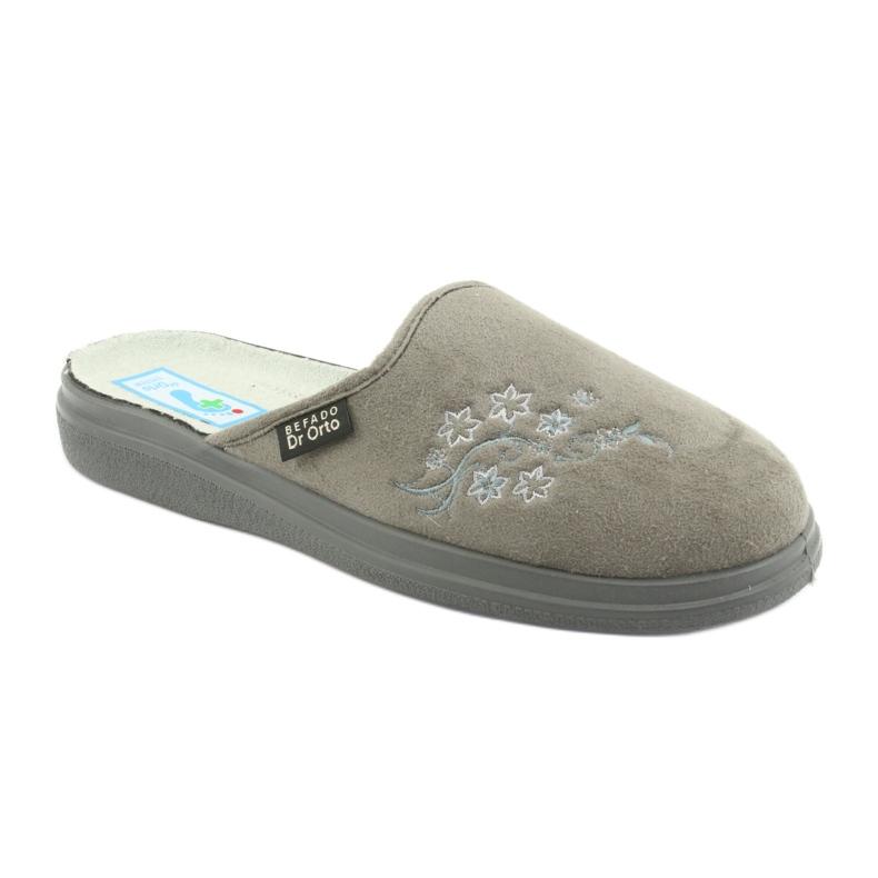 Grey Befado women's shoes pu 132D013 picture 1