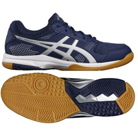 Volleyball shoes Asics Gel Rocket 8 M B706Y-4993 navy navy blue 2