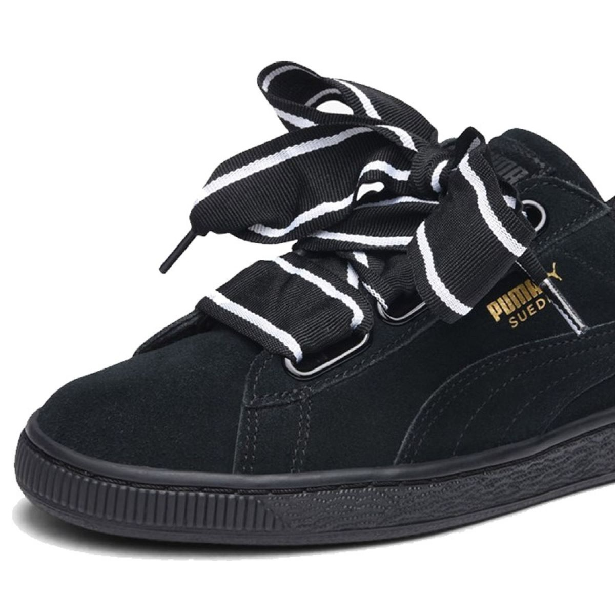 size 40 c9315 e67c3 Black Shoes Puma Suede Heart Satin Ii W 364084 01