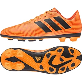 Football shoes adidas Nemeziz 18.4 FxG Jr DB2355 orange multicolored 2