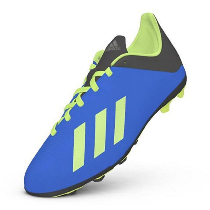 compensar El cuarto guapo  Football shoes adidas X 18.4 FxG Jr DB2419 blue multicolored - ButyModne.pl
