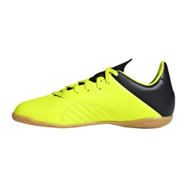 Adidas X Tango 18.4 In Jr DB2433 football shoes yellow yellow 1