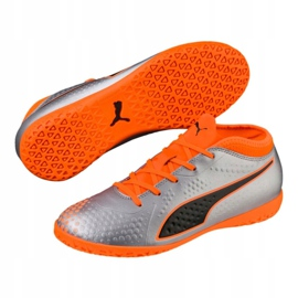 Indoor shoes Puma One 4 Son It Jr 104783 01 gray / silver silver 3