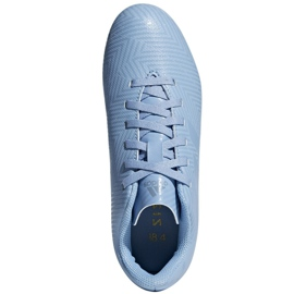 Football shoes adidas Nemeziz Messi 18.4 FxG Jr DB2368 blue multicolored 2