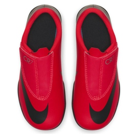 Indoor shoes Nike Mercurial Vapor 12 Club Ps (V) CR7 Ic Jr AJ3107-600 red red 1